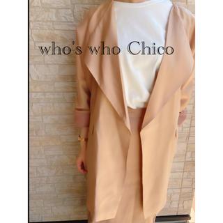 who's who Chico - 新品 who's who Chico フーズフーチコ 薄手 アウター ジャケット