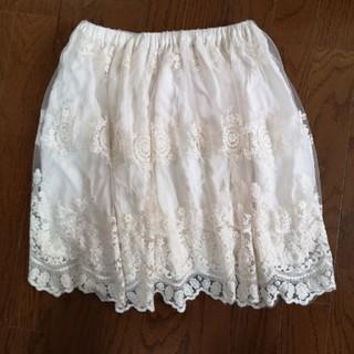 STRAWBERRY-FIELDS - 白レース 膝上スカート