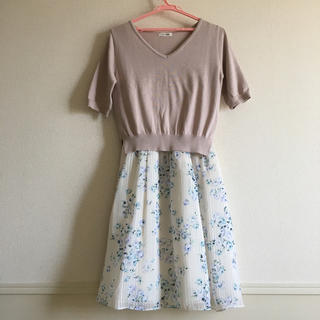 L'EST ROSE - レストローズ 半袖ワンピース ピンク Mサイズ