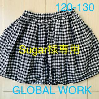 グローバルワーク(GLOBAL WORK)の◆Sugar様専用◆ギンガムスカート、カーキスカート2枚セット価格(スカート)