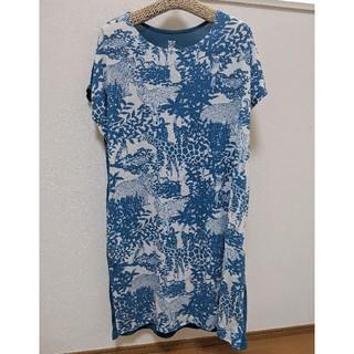 グラニフ(Design Tshirts Store graniph)のグラニフ graniph 半袖 ワンピース レディース フリーサイズ 動物 柄 (ひざ丈ワンピース)