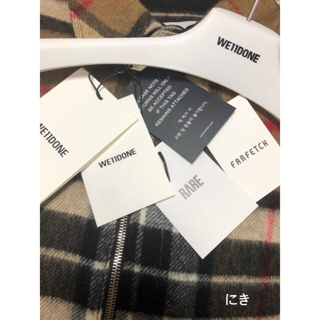 PEACEMINUSONE(ピースマイナスワン)のG-DRAGON着用 We11Done CHECK SHIRT JACKET メンズのジャケット/アウター(ブルゾン)の商品写真