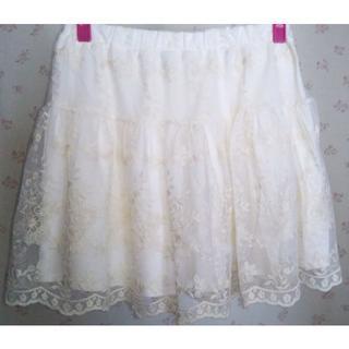 ザラ(ZARA)の新品 ♡ ZARA ザラ オーガンジー風 フラワー レース スカート(スカート)
