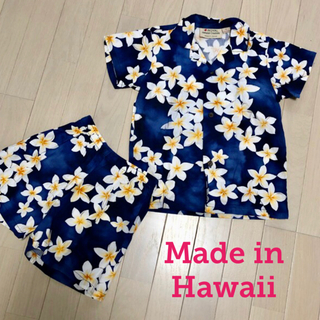 美品 キッズ 男の子 アロハシャツセットアップ ハワイ製 ♡サイズ6