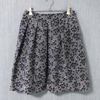 Stola. - Stola. 紺系 ジャガード刺繍の膝上スカート