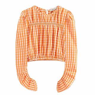 ザラ(ZARA)の♡ gingham check blouse ♡(シャツ/ブラウス(長袖/七分))