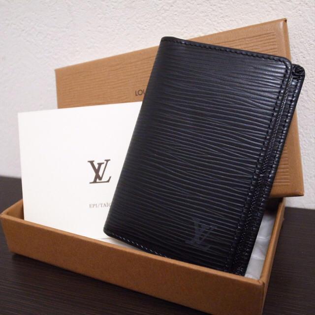 LOUIS VUITTON(ルイヴィトン)の美品♡ルイヴィトン エピ 名刺入れ 黒 メンズのファッション小物(名刺入れ/定期入れ)の商品写真