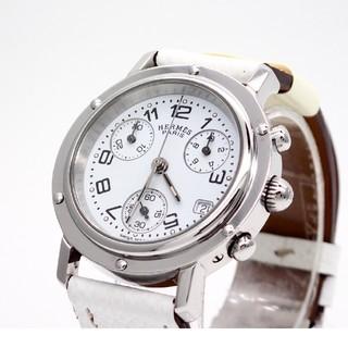 Hermes - 【HERMES】エルメス腕時計 'クリッパー ホワイト' ☆クロノグラフ☆