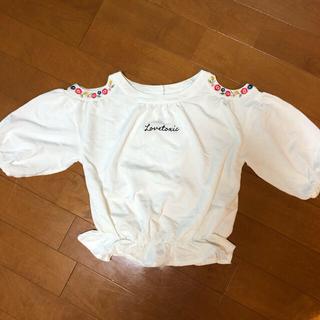ラブトキシック(lovetoxic)のラブトキ 刺繍半袖M(Tシャツ/カットソー)