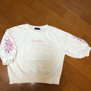 ラブトキシック(lovetoxic)のラブトキ 7部丈トレーナーM(Tシャツ/カットソー)