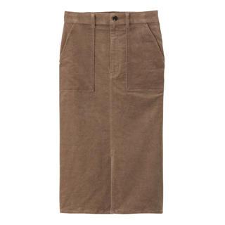 ジーユー(GU)の【コロナに負けるな!】GU ベッチンタイトスカート(ひざ丈スカート)