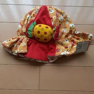 ビッツ(Bit'z)の新品未使用タグ付きBit,zビッツ赤×オレンジチューリップハット帽子52センチ(帽子)