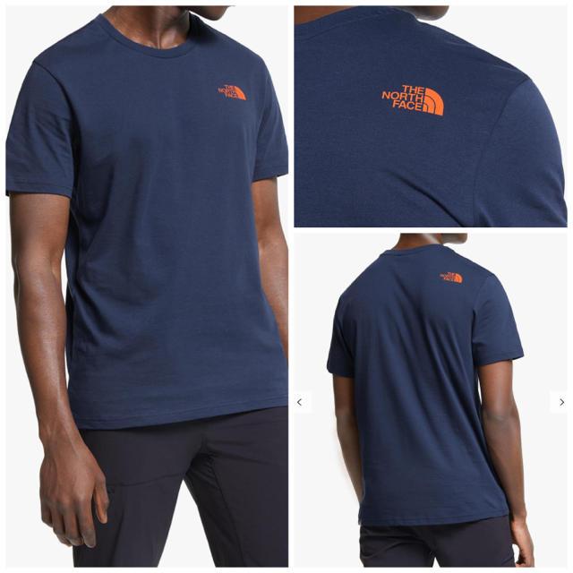 THE NORTH FACE(ザノースフェイス)の◆海外限定◆THE NORTH FACE ノースフェイス Tシャツ ネイビー M メンズのトップス(Tシャツ/カットソー(半袖/袖なし))の商品写真