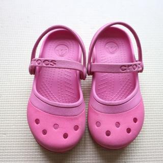 crocs - クロックス16-16.5cmストラップサンダル/バレーシューズ/女の子
