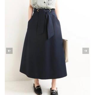 IENA - イエナ ツイルリボンスカート 38 ネイビー