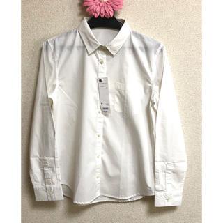 ジーユー(GU)のGU ウォッシュブロードシャツ(長袖)Mサイズ(シャツ/ブラウス(長袖/七分))