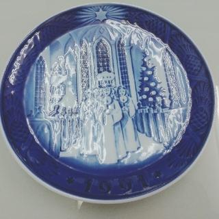 ロイヤルコペンハーゲン(ROYAL COPENHAGEN)のROYALCOPENHAGEN  RC Christmas Plate1991(食器)