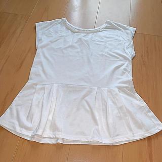 ジーユー(GU)の白Tシャツ(Tシャツ/カットソー(半袖/袖なし))