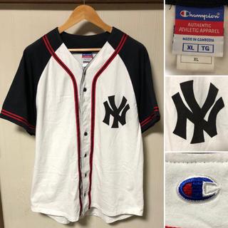 Champion - Champion チャンピオン ニューヨーク ヤンキース ベースボールシャツ