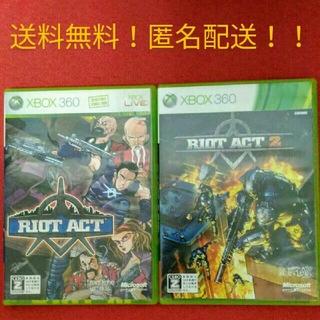 エックスボックス360(Xbox360)のXbox360 ライオット アクト RIOT ACT 2 2品セット!!(家庭用ゲームソフト)
