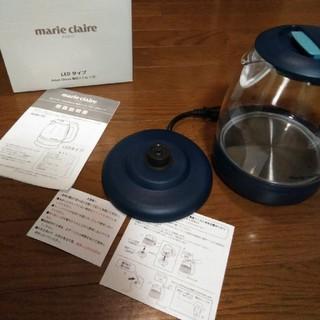 マリクレール(Marie Claire)の新品 未使用 電子ケトル 1.2リットル ネイビー ガラス(電気ケトル)