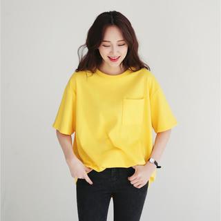 ディーホリック(dholic)のラウンドネックワンポケットTシャツ(Tシャツ(半袖/袖なし))