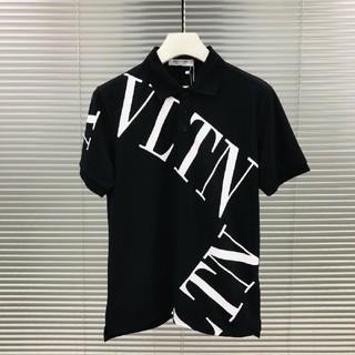 ヴァレンティノ(VALENTINO)のValentino ヴァレンティノ ポロシャツ ブラック(ポロシャツ)