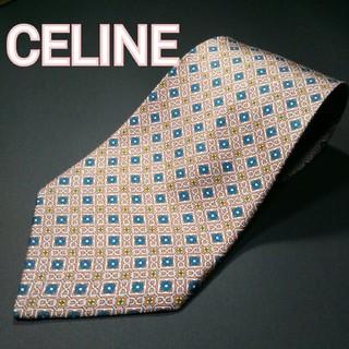 celine - 【極美品】 CELINE 総柄 ネクタイ ベージュ