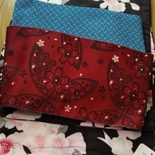 浴衣帯   ゆかた帯    青帯     赤帯(浴衣帯)