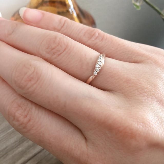 STAR JEWELRY(スタージュエリー)の美品 スタージュエリー K10 デザインリング レディースのアクセサリー(リング(指輪))の商品写真
