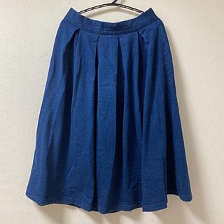 ジーユー(GU)のGUフレアスカート☆夏コーデ(ひざ丈スカート)