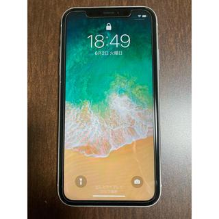 アップル(Apple)のiPhone XR 64GB ホワイト 白 美品 バッテリー100%!(スマートフォン本体)