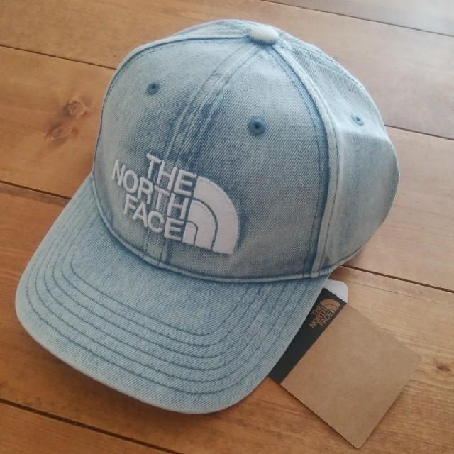 THE NORTH FACE(ザノースフェイス)のsachimon様専用【新品】ノースフェイス  ロゴキャップ  ブリーチデニム メンズの帽子(キャップ)の商品写真