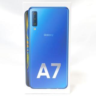 サムスン(SAMSUNG)のD198 SAMSUNG Galaxy A7 Blue 64GB(スマートフォン本体)