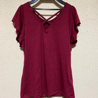 ユメテンボウ(夢展望)のフロントクロスカットソー M  (Tシャツ/カットソー(半袖/袖なし))