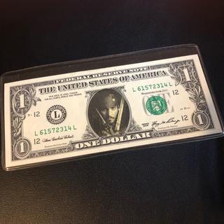ジャックスパロウ ジョニーデップ 1ドル札(貨幣)