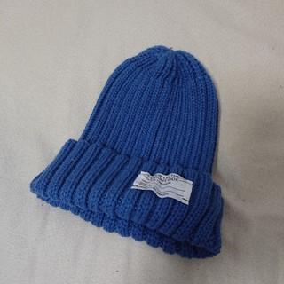 ジーユー(GU)のターコイズブルーニット帽(ニット帽/ビーニー)