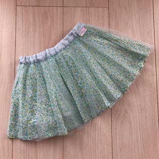 mezzo piano - 【美品】メゾピアノ  花柄 チュール スカート 100㎝