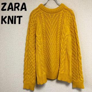 ザラ(ZARA)の【人気】ZARA KNIT ケーブル コットンニット USサイズM レディース(ニット/セーター)