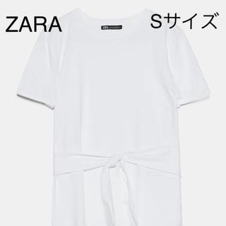 ザラ(ZARA)のZARA  リボンTシャツ Sサイズ(Tシャツ(半袖/袖なし))