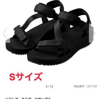 ジーユー(GU)の新品★GU★ソフトアーチスポーツサンダル★ブラック★Sサイズ(サンダル)