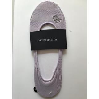 BURBERRY - バーバリー  フットカバー 22〜24  綿ナイロン 薄紫