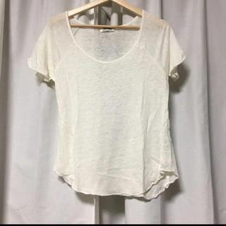 アズールバイマウジー(AZUL by moussy)のAZUL by moussy Tシャツ トップス カットソー アズール リネン(Tシャツ(半袖/袖なし))