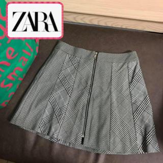 ザラ(ZARA)のZARA  グレンチェック グレー ミニスカート(ミニスカート)