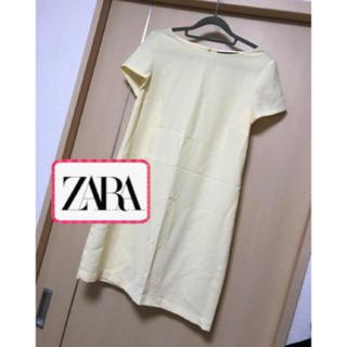 ザラ(ZARA)のZARA  レモンイエロー  黄色  春夏ワンピース(ひざ丈ワンピース)