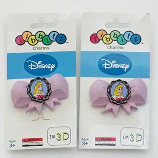 ディズニー(Disney)のクロックス 3D ジビッツ オーロラ ペア(その他)