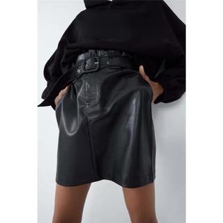 ZARA - ZARA レザーミニスカート ザラ レザースカート
