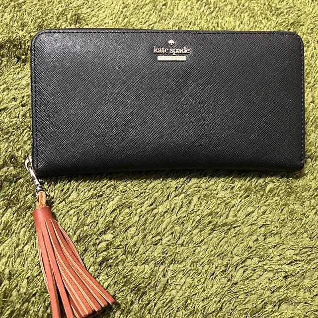 kate spade new york(ケイトスペードニューヨーク)のケイトスペード 長財布 黒 レディースのファッション小物(財布)の商品写真