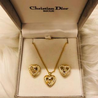 クリスチャンディオール(Christian Dior)のタイムセール✨美品‼️クリスチャンディオール ✨ ネックレス&イヤリング セット(ネックレス)