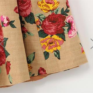 Drawer - ●house of lotusハウスオブロータス19awベージュ花柄スカート
